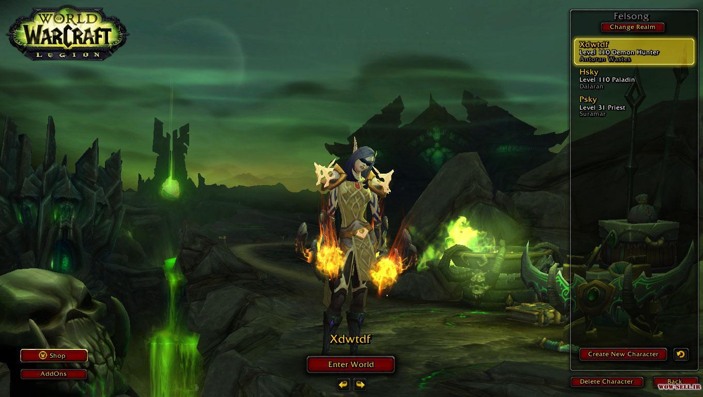فروش اکانت wow - کد 1146 - کلاس هیرو ها : Priest، Demon Hunter - سرور Wow-Freakz.com