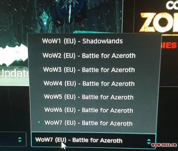 فروش اکانت wow - کد 1152 - کلاس druid - تعداد 7 اکانت یکجا - سرور battle.net